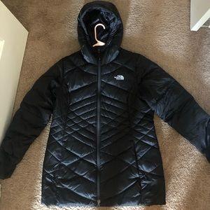 North face women's black parka winter coat